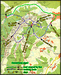 Piatra Craiului - detailed map - click to zoom