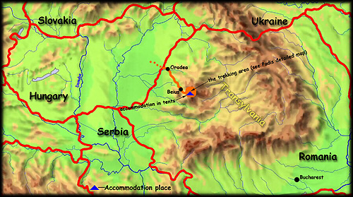 'The Transylvanian Paradise' map - click to zoom
